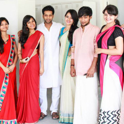 ethnic day at top fashion design institute in India