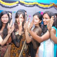Vogue students celebrating Sankranti festival at college