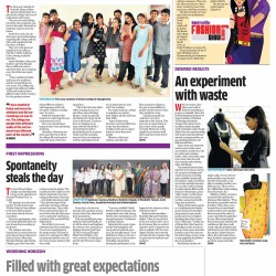 newspaper article on art and design college