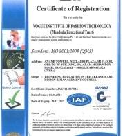 certificate of registration for vogue institute