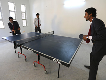 vogue students playing table tennis
