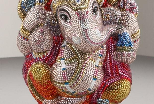 Judith Leiber Ganesh Fine Crystal-Embellished Clutch
